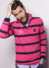 POLO MAN BLUE STRIPES AND ROSES