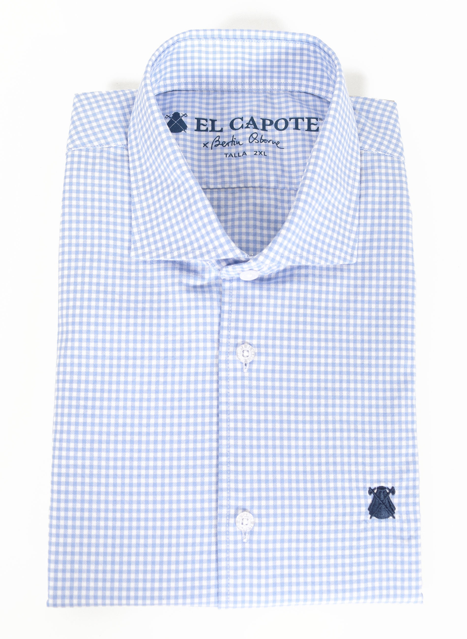 Light Blue x Bertín Osborne Gingham Check Men's Shirt