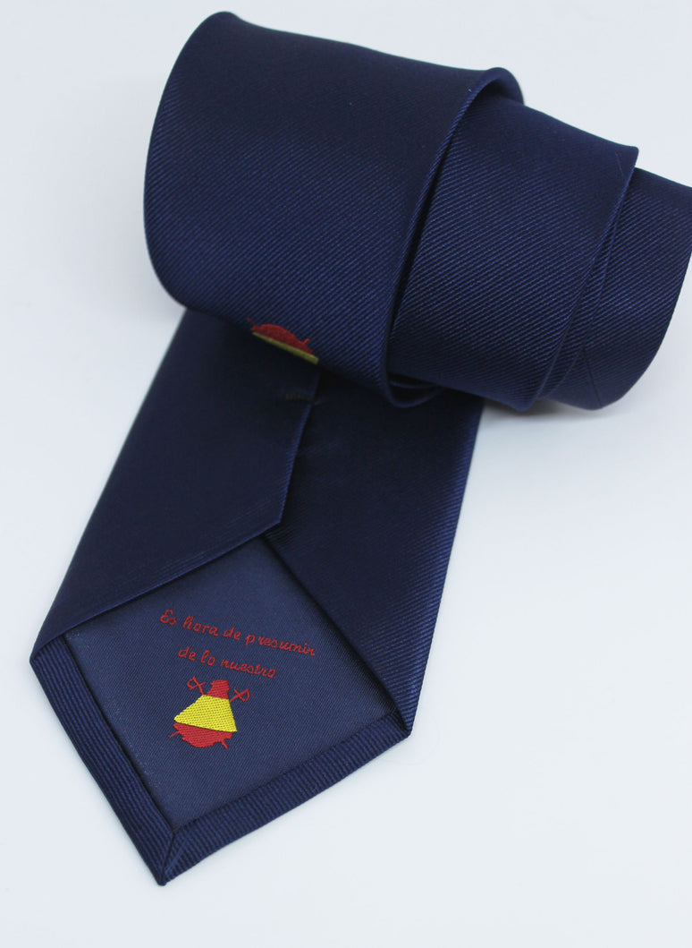 Navy Blue Tie Logo Spain