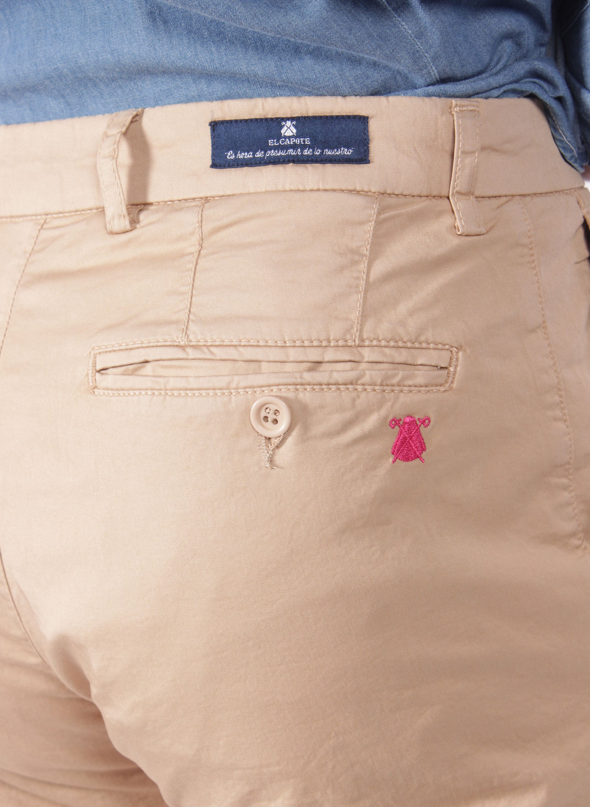 BEIGE CHINESE MAN TROUSERS