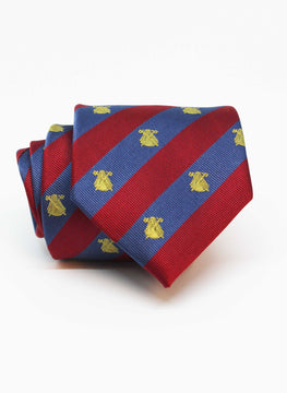 Blue Stripes Tie en Grana Logos Gold