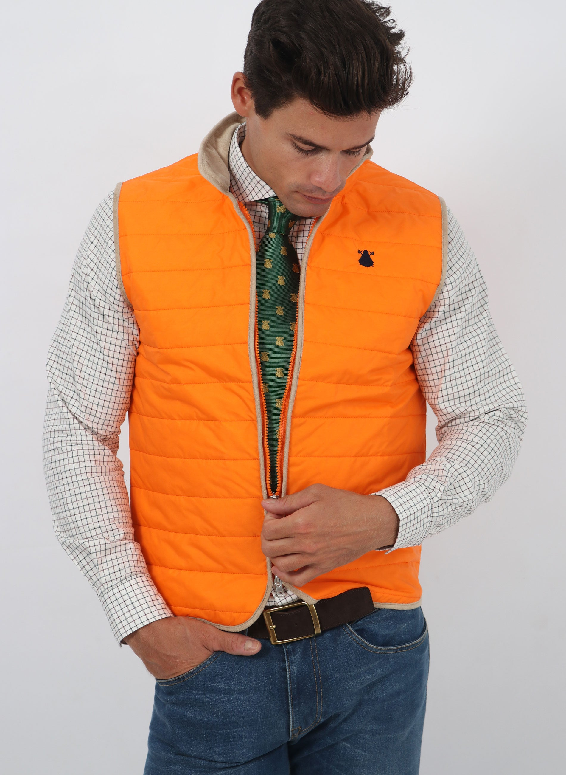 Orange Padded Thin Vest