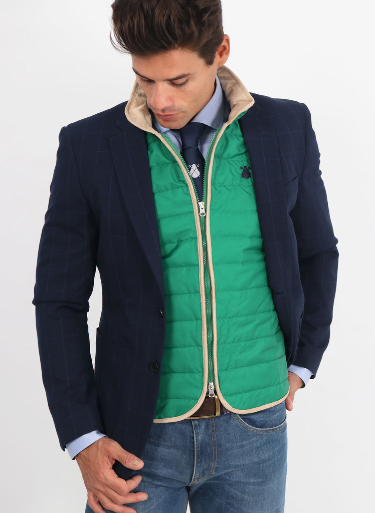Green Padded Thin Vest
