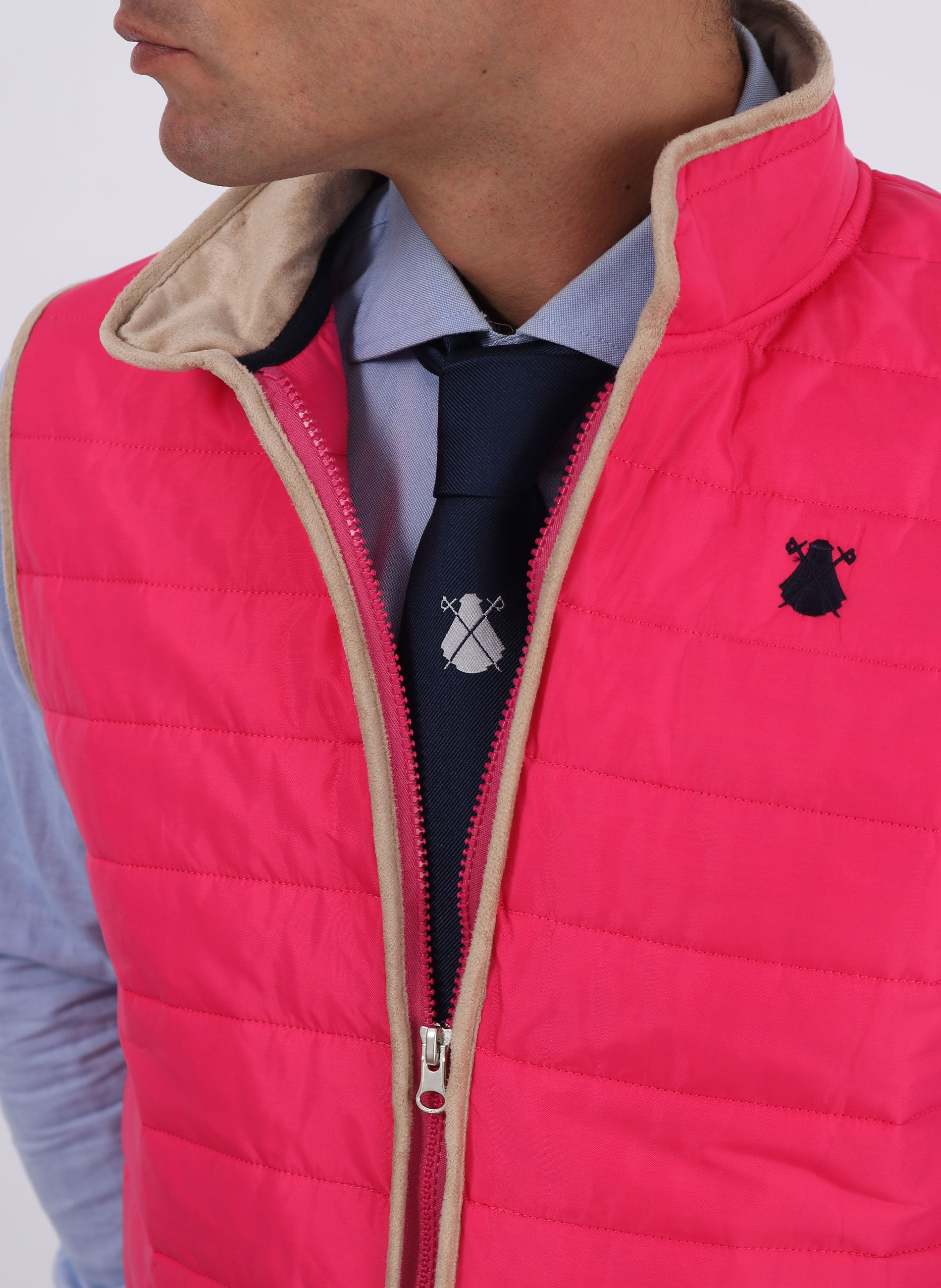 Pink Padded Thin Vest