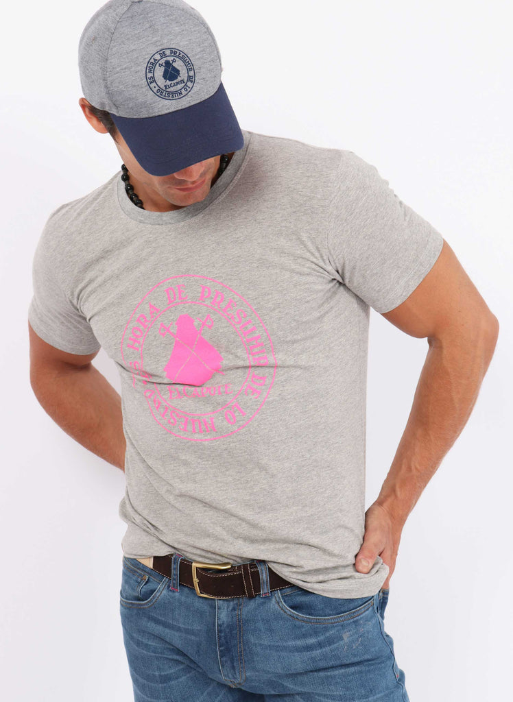 Gray Slogan Rosa Fluor T-Shirt