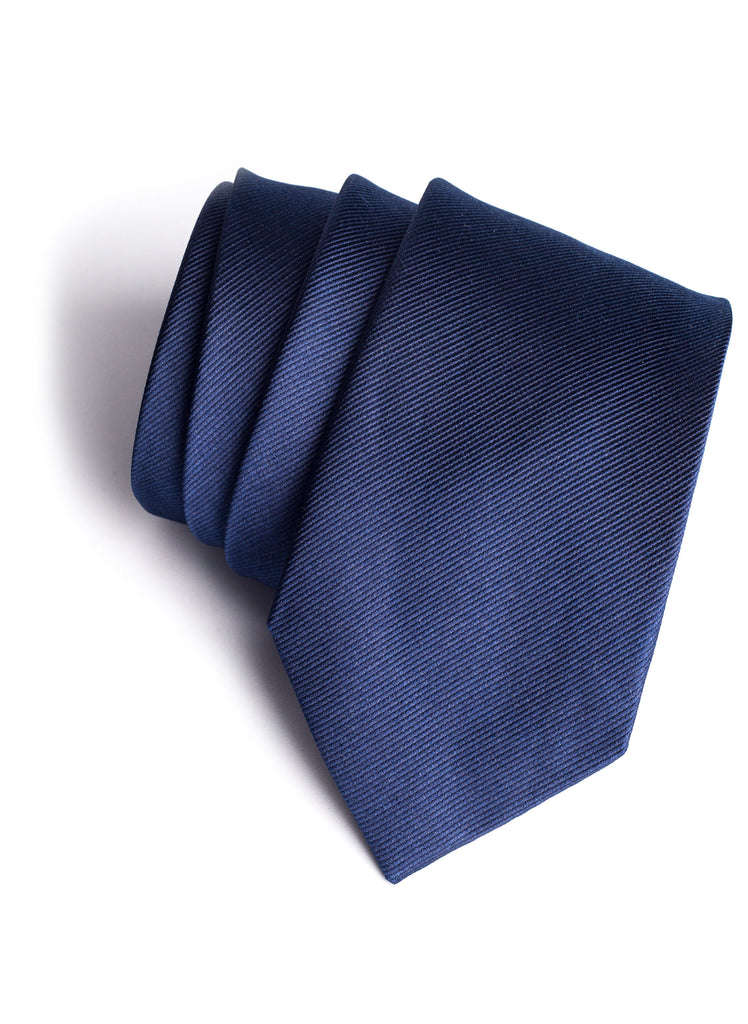Navy Blue Tie White Logo