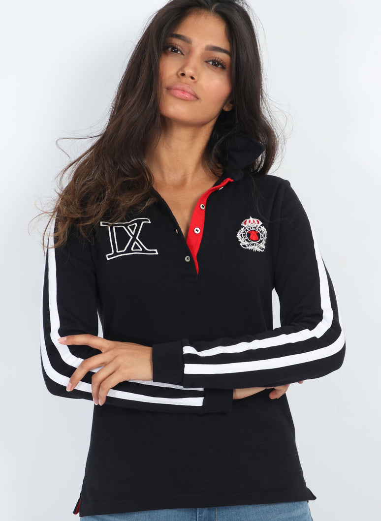 Women's Rugby Polo Black
