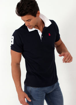 MARINE BLUE POLO MAN NUMBER 9
