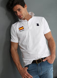 White Polo Flag Spain Man