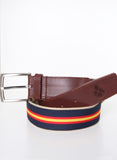 Spanish Flag Twill Navy Belt