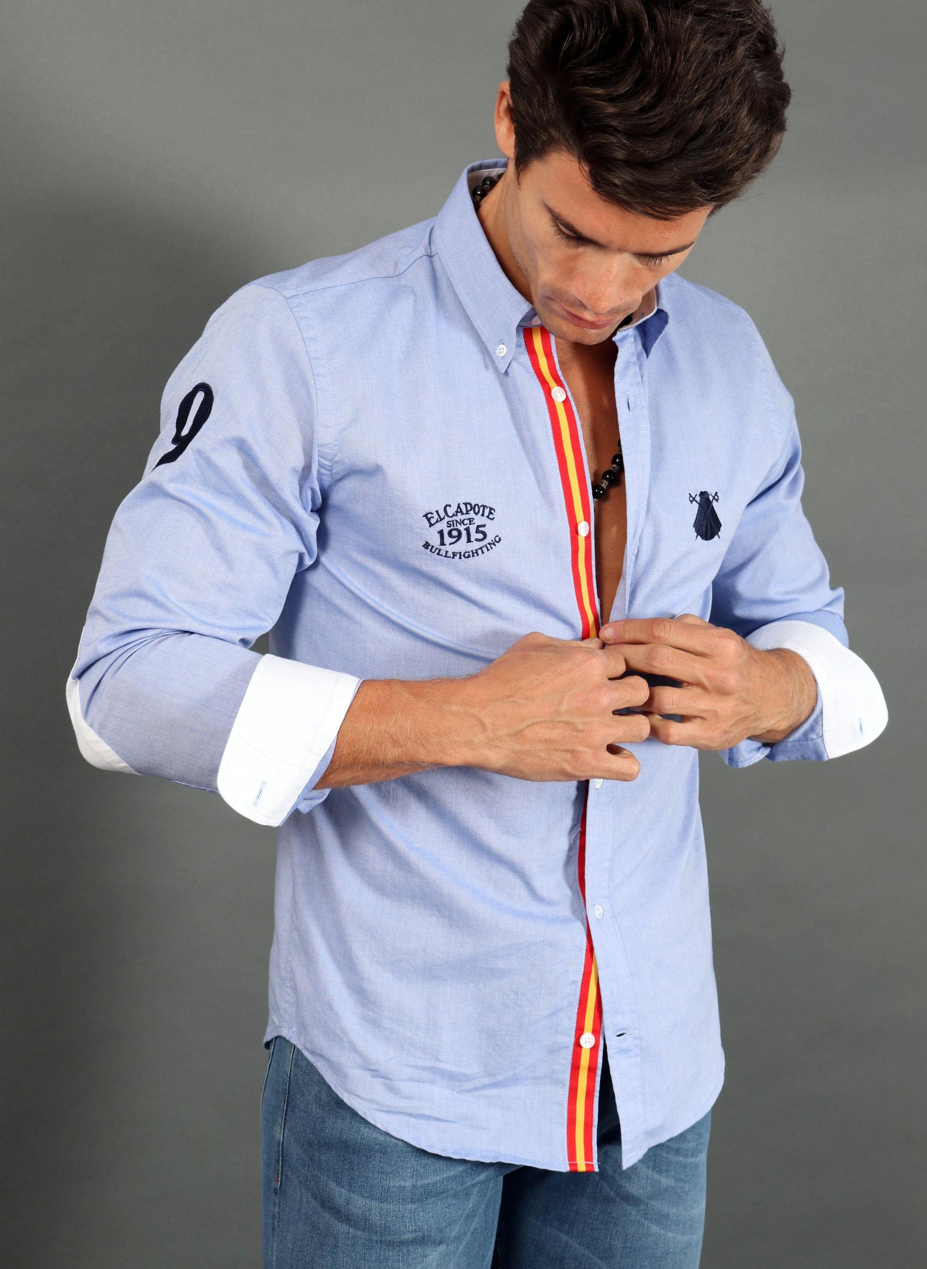 Men's Regata Spain Blue Oxford Shirt