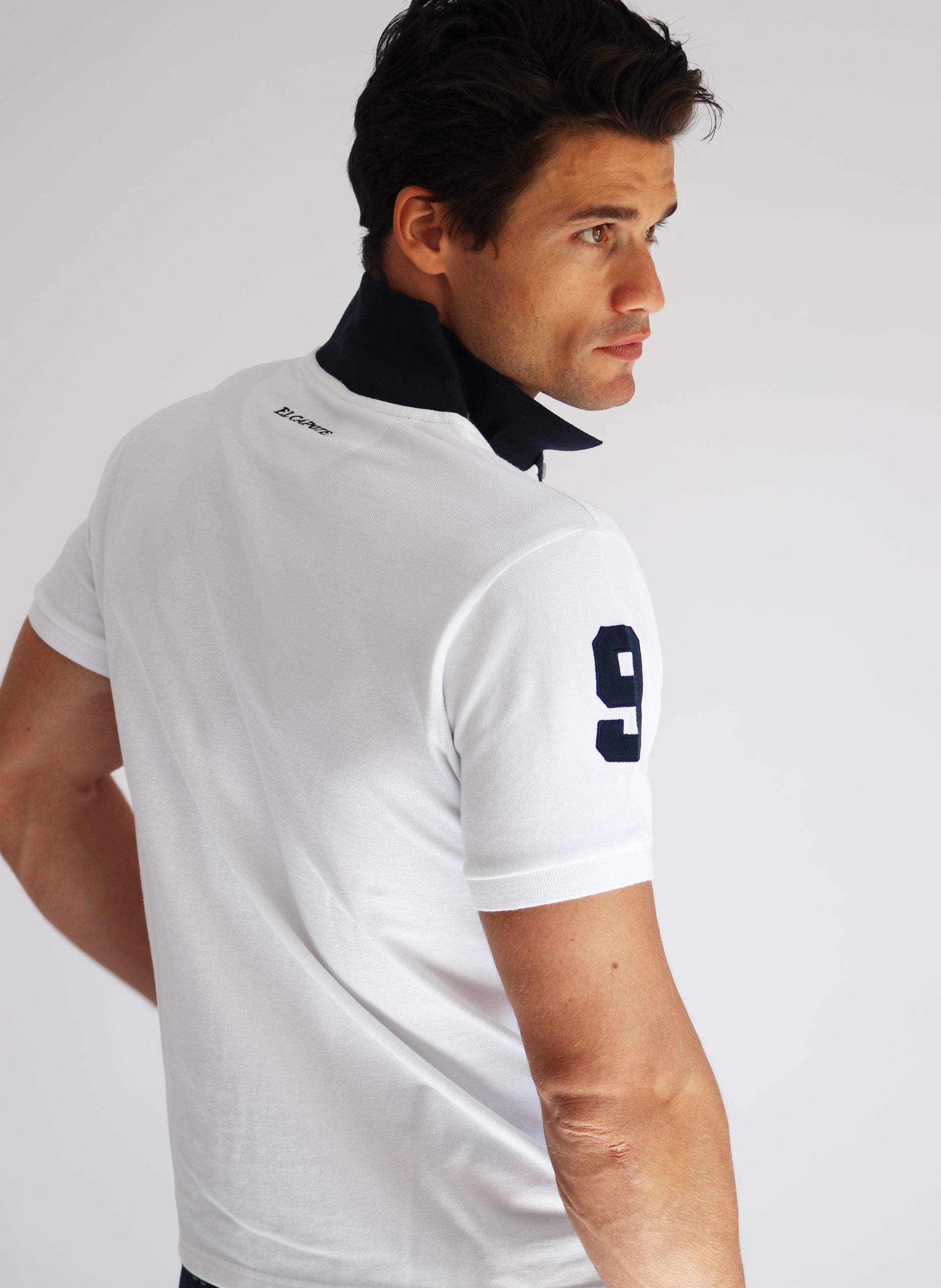 WHITE POLO MAN NUMBER 9