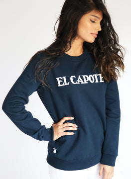 Sweatshirt Navy Blue Woman
