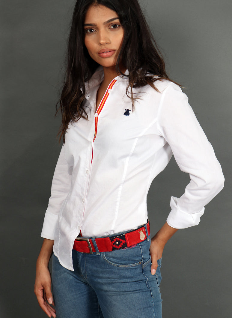 White Woman Shirt Spain Nest of Bee