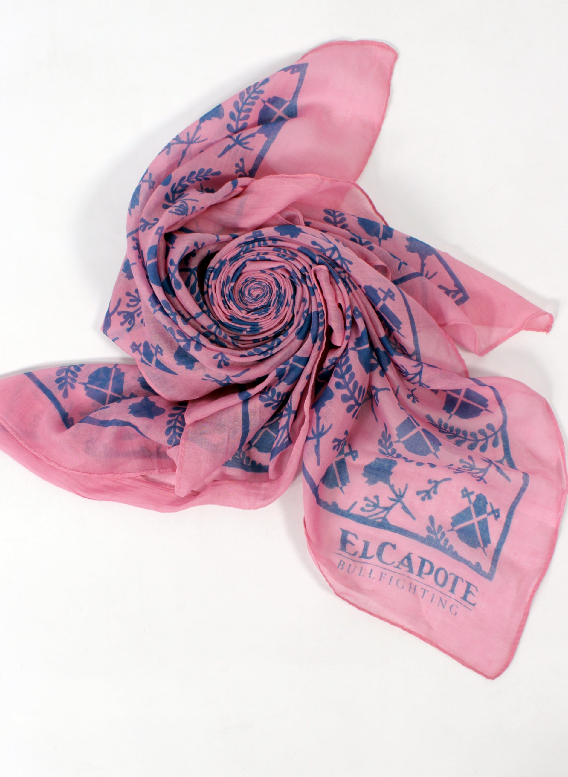 Zakdoek Neck Rose Blue-logo's