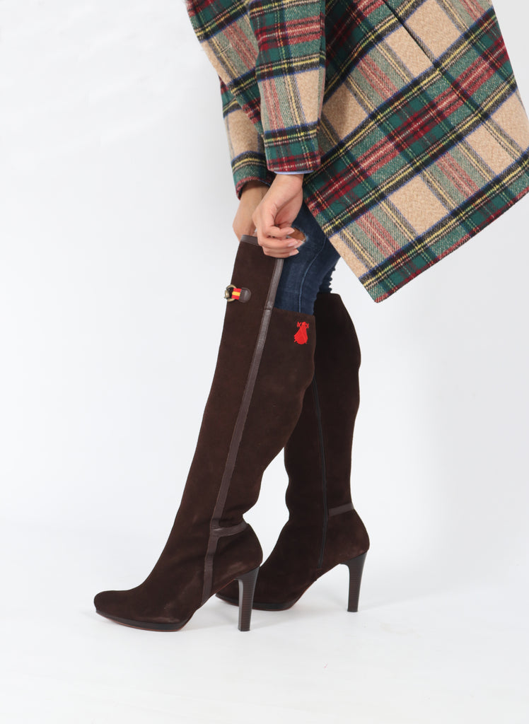 Heel Boots Spain Serraje Chocolate Brown