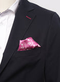 Pocket Handkerchief Pink White Logos