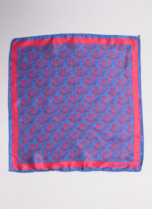 Zakdoek Pocket Navy Blue Logos Red