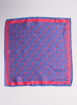 Handkerchief Pocket Navy Blue Logos Red