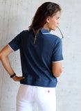 Blue Women's Zip Polo
