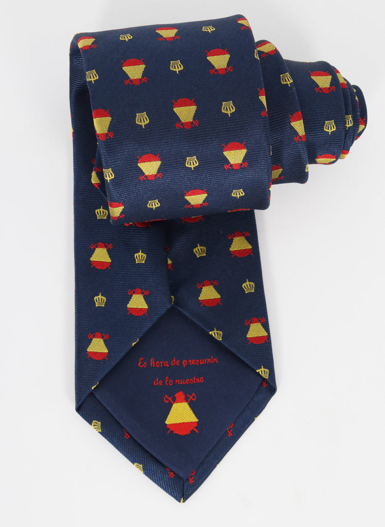 Tie Navy Blue Spain Crowns
