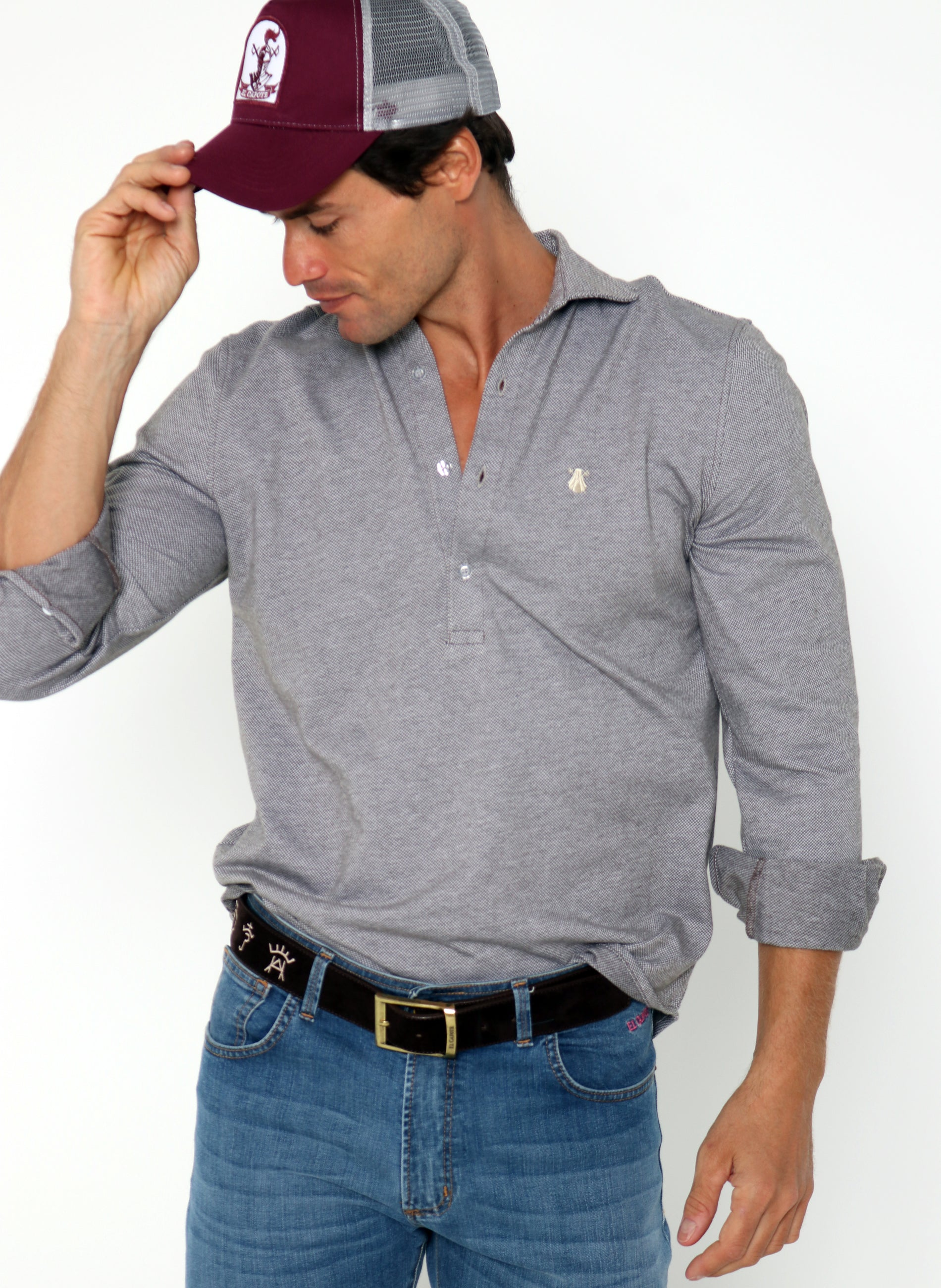 Men's Marbled Double Thread T-shirt