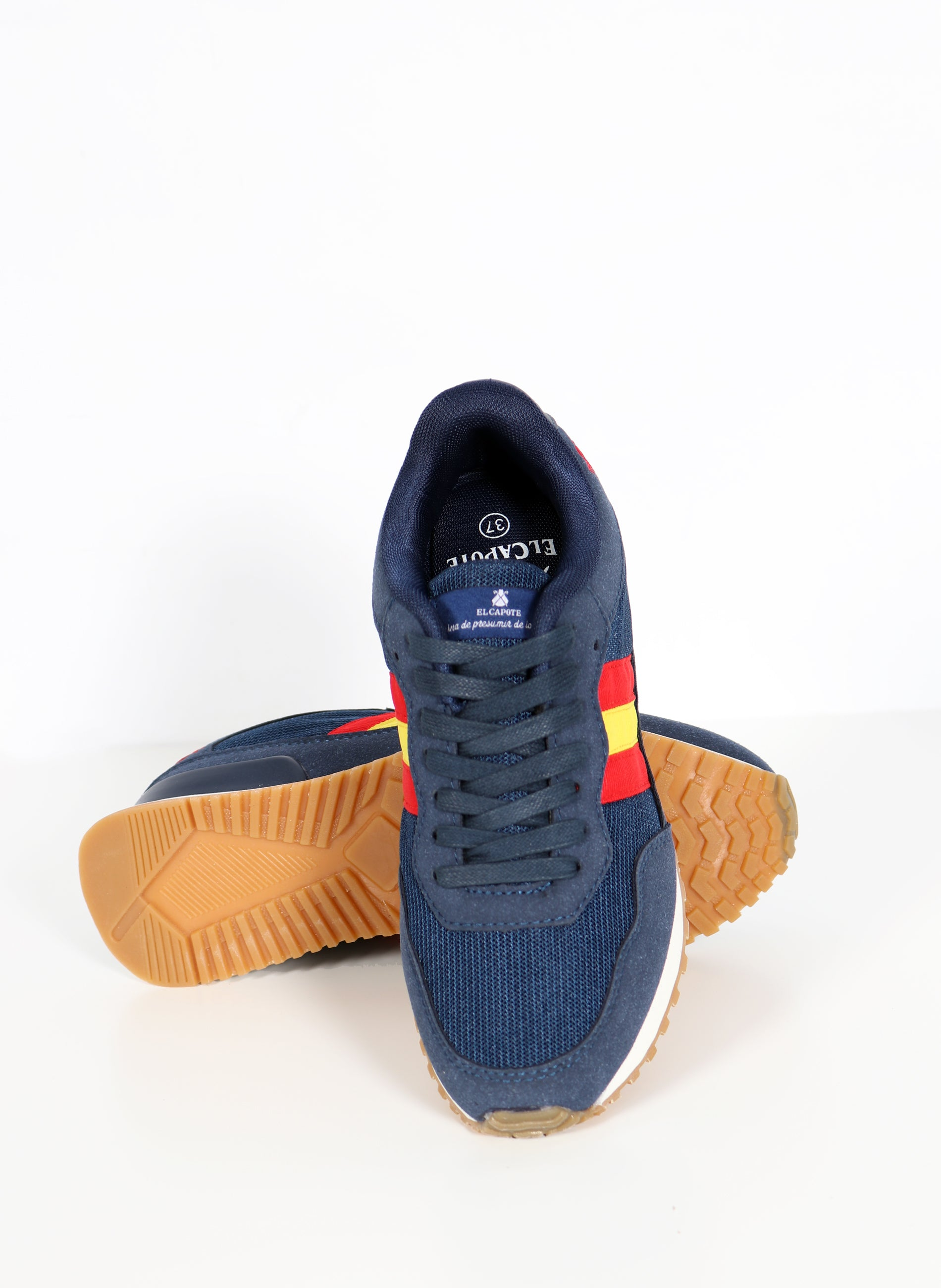 Unisex Navy Sneaker Flag of Spain