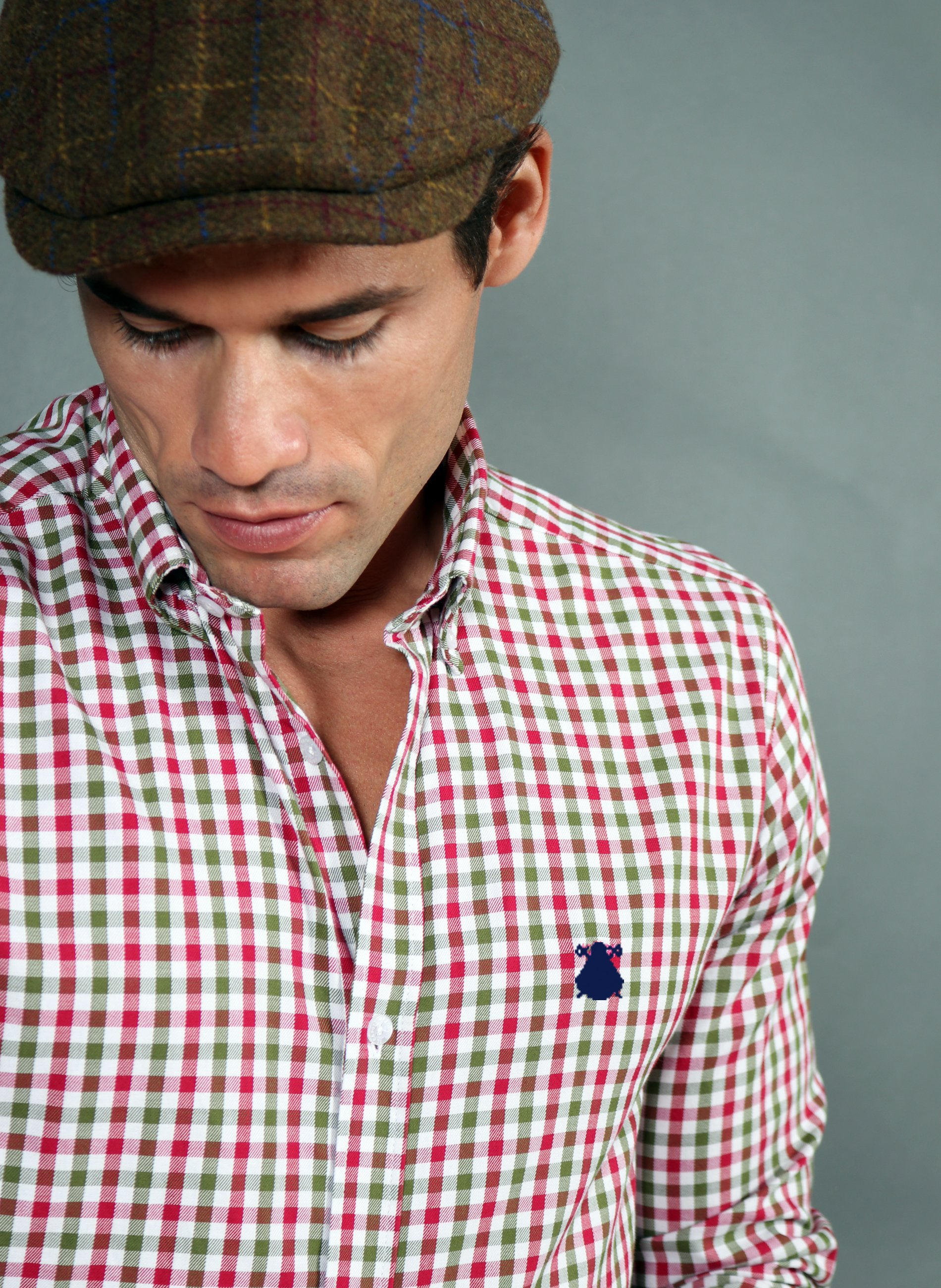 Men's Green and Garnet Check Shirt