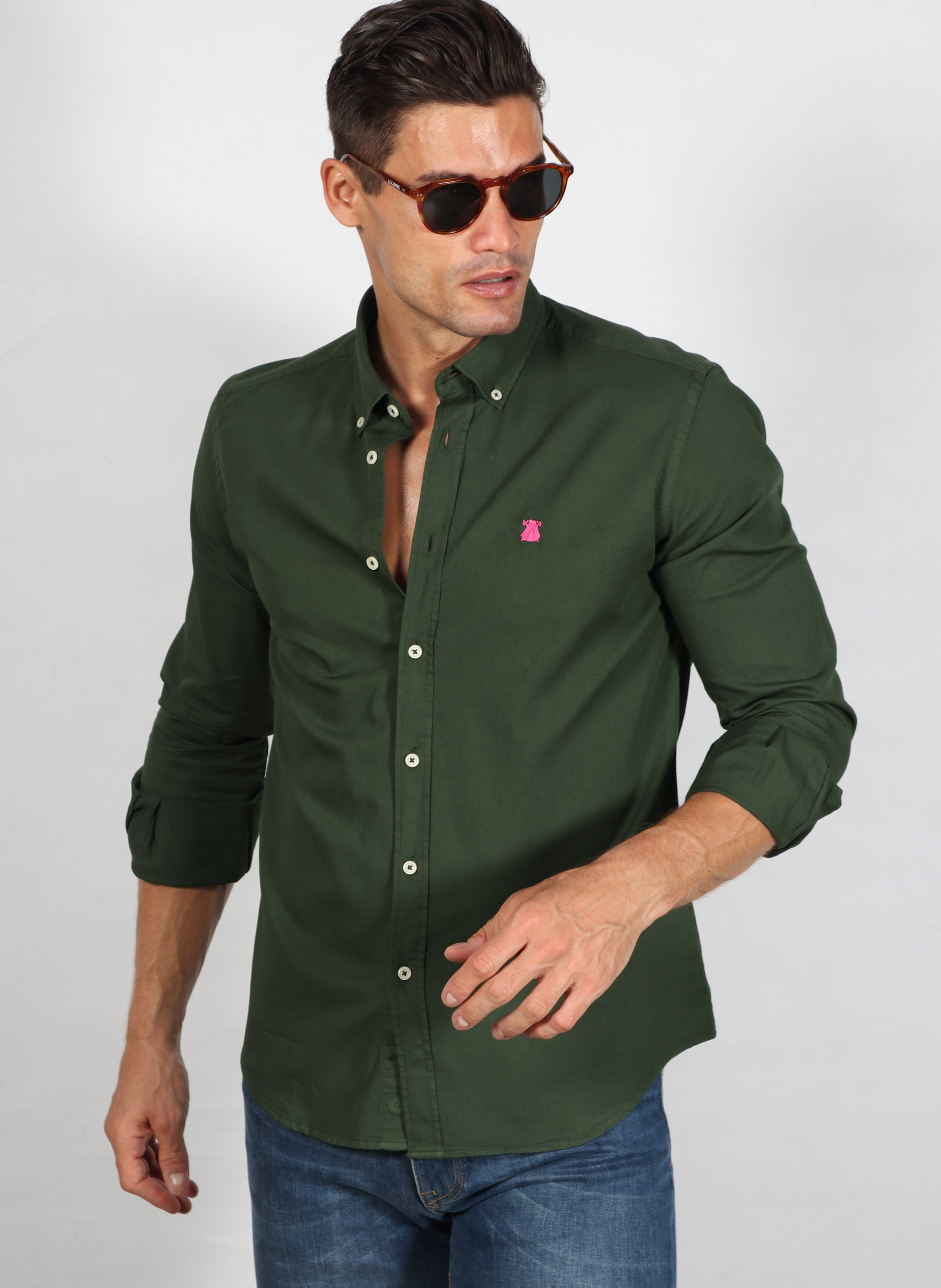 Forest Green Man Shirt Wabe