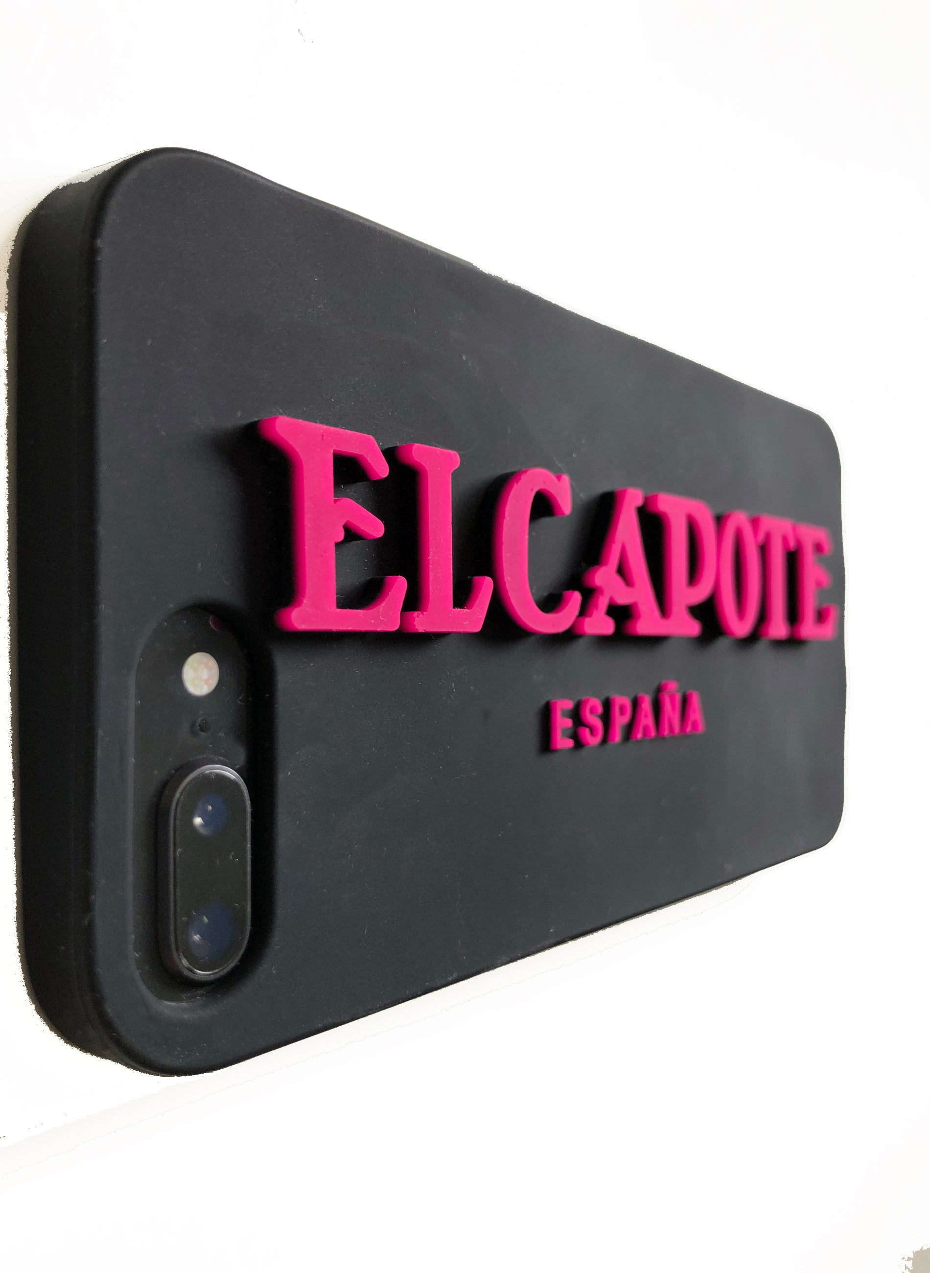 Black Silicone Case Embossed Letters for Iphone