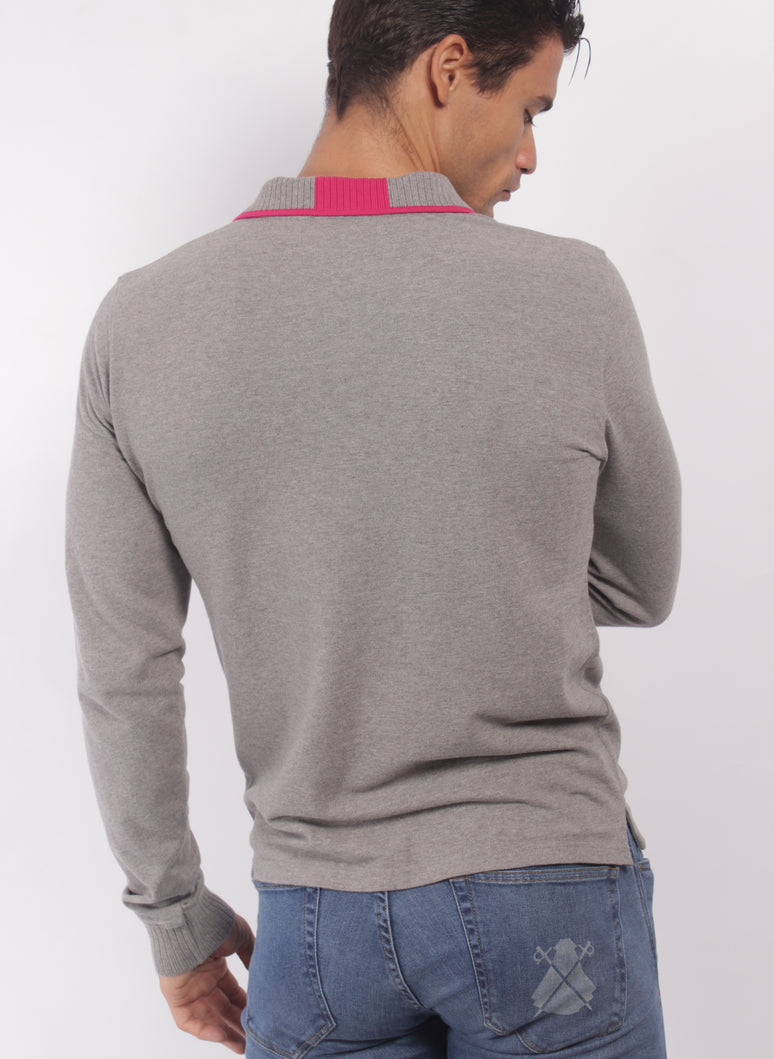 POLO JERSEY GRIS