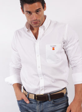 CHEMISE BLANCHE BOUTON OXFORD COL