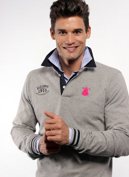 Rugby Polo Gray