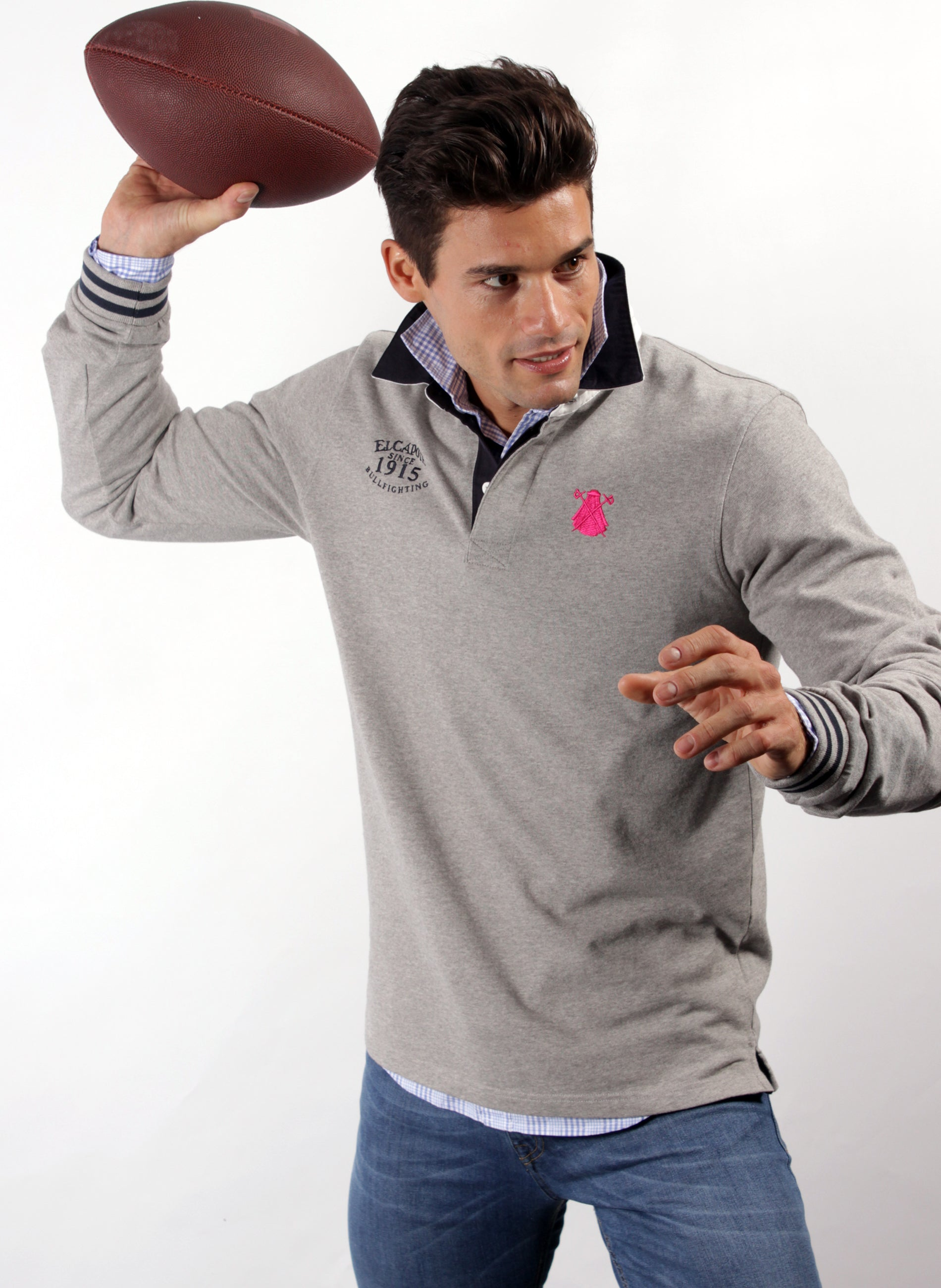 GRAY RUGBY POLO MAN