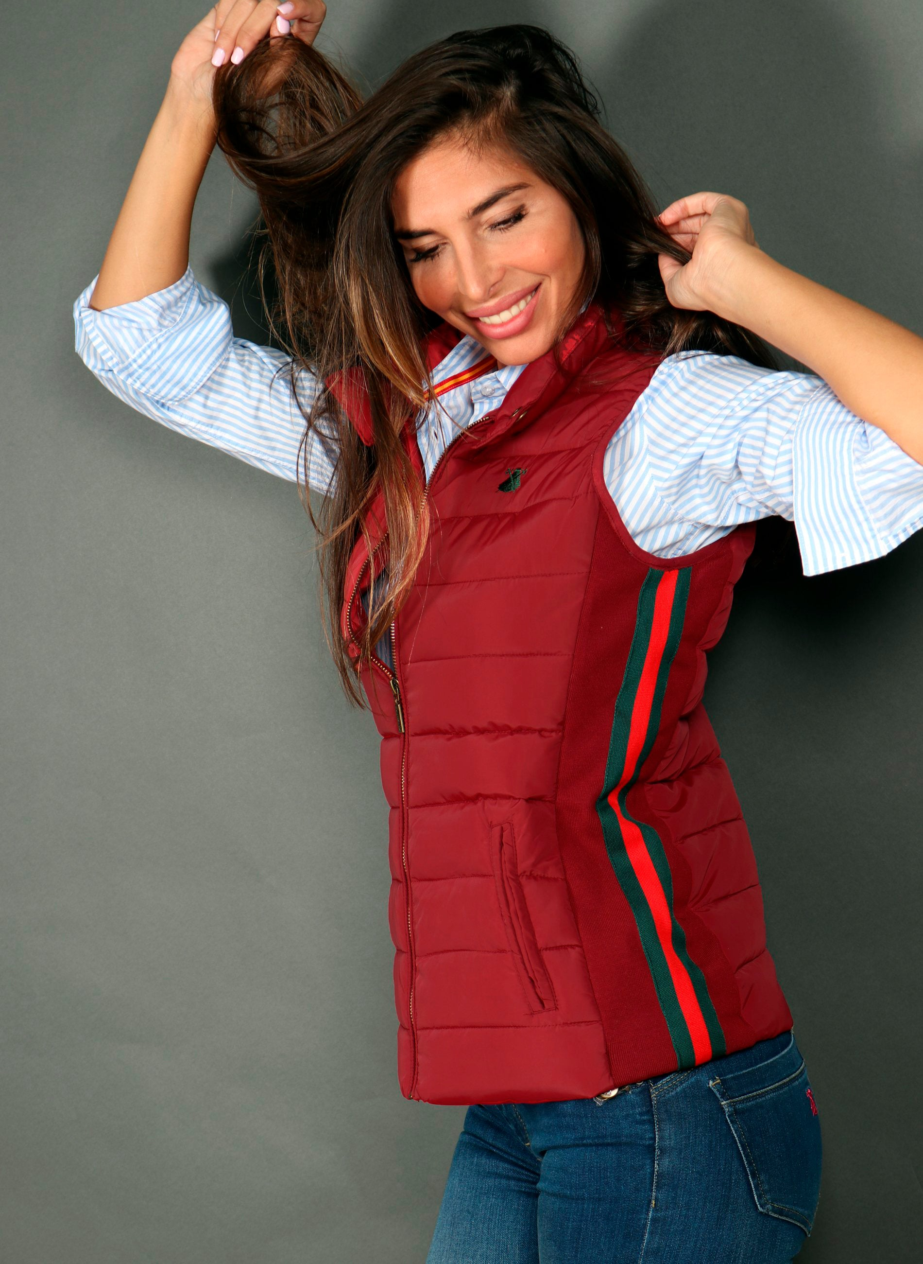 Garnet Red Feather Vest