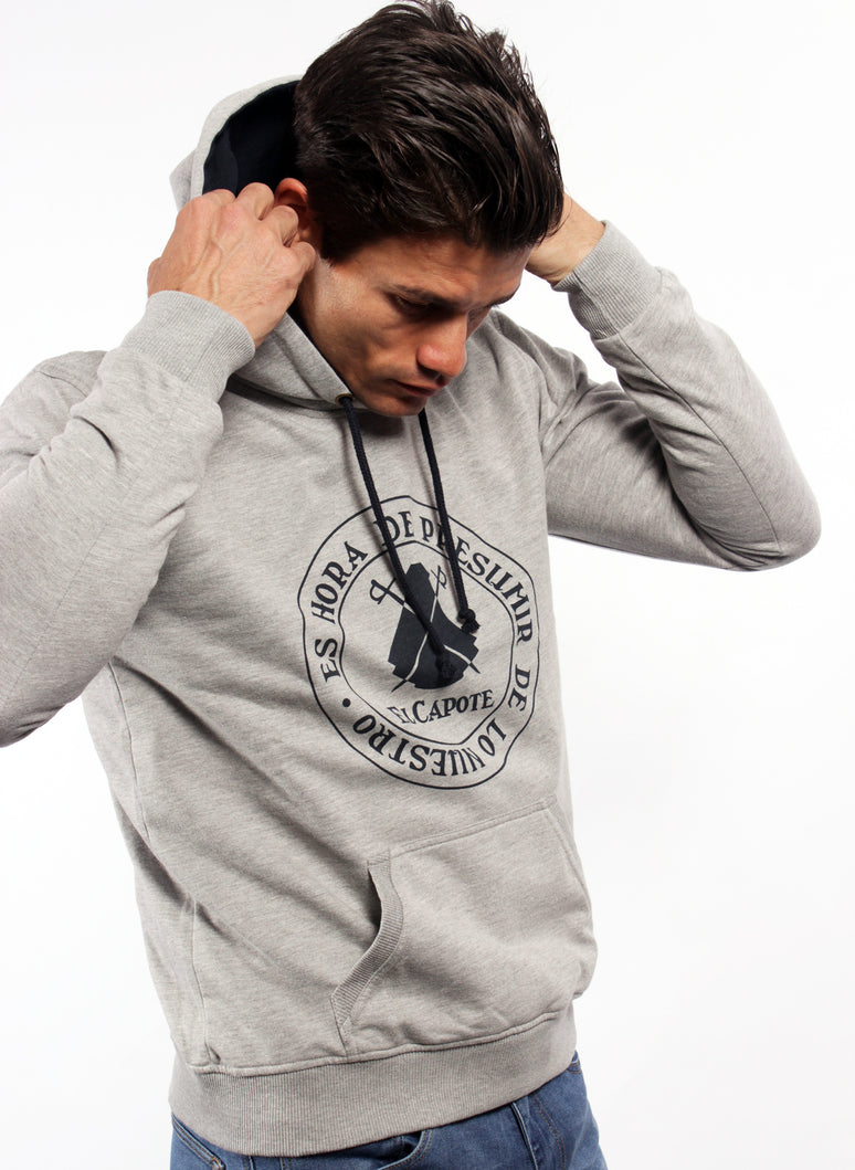 GRAY MAN HOODED SWEATSHIRT