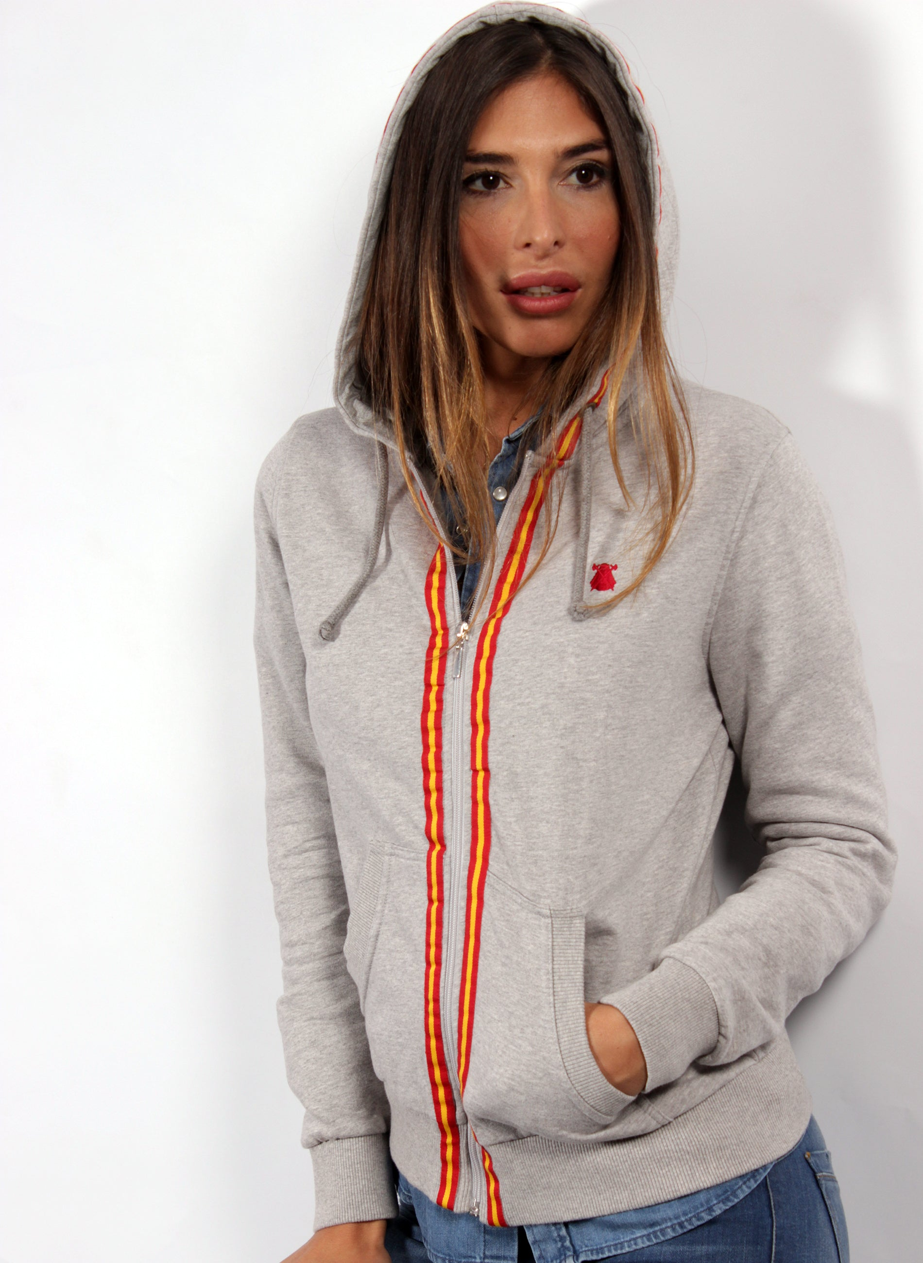 GRAY SWEATSHIRT WOMAN SPAIN