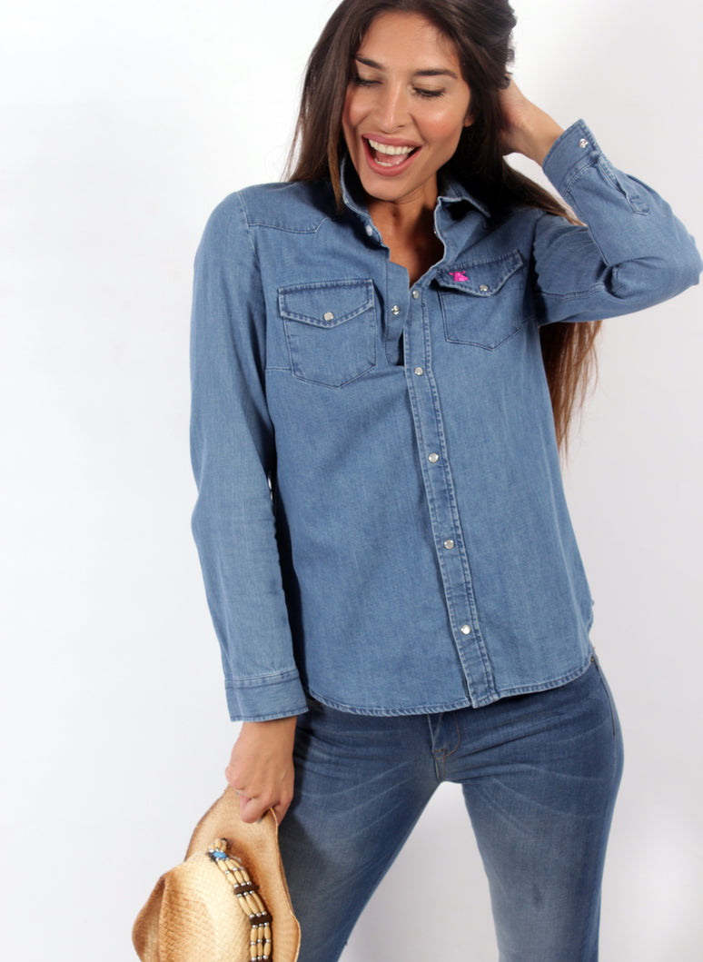 SHIRT DENIM WOMEN POCKETS