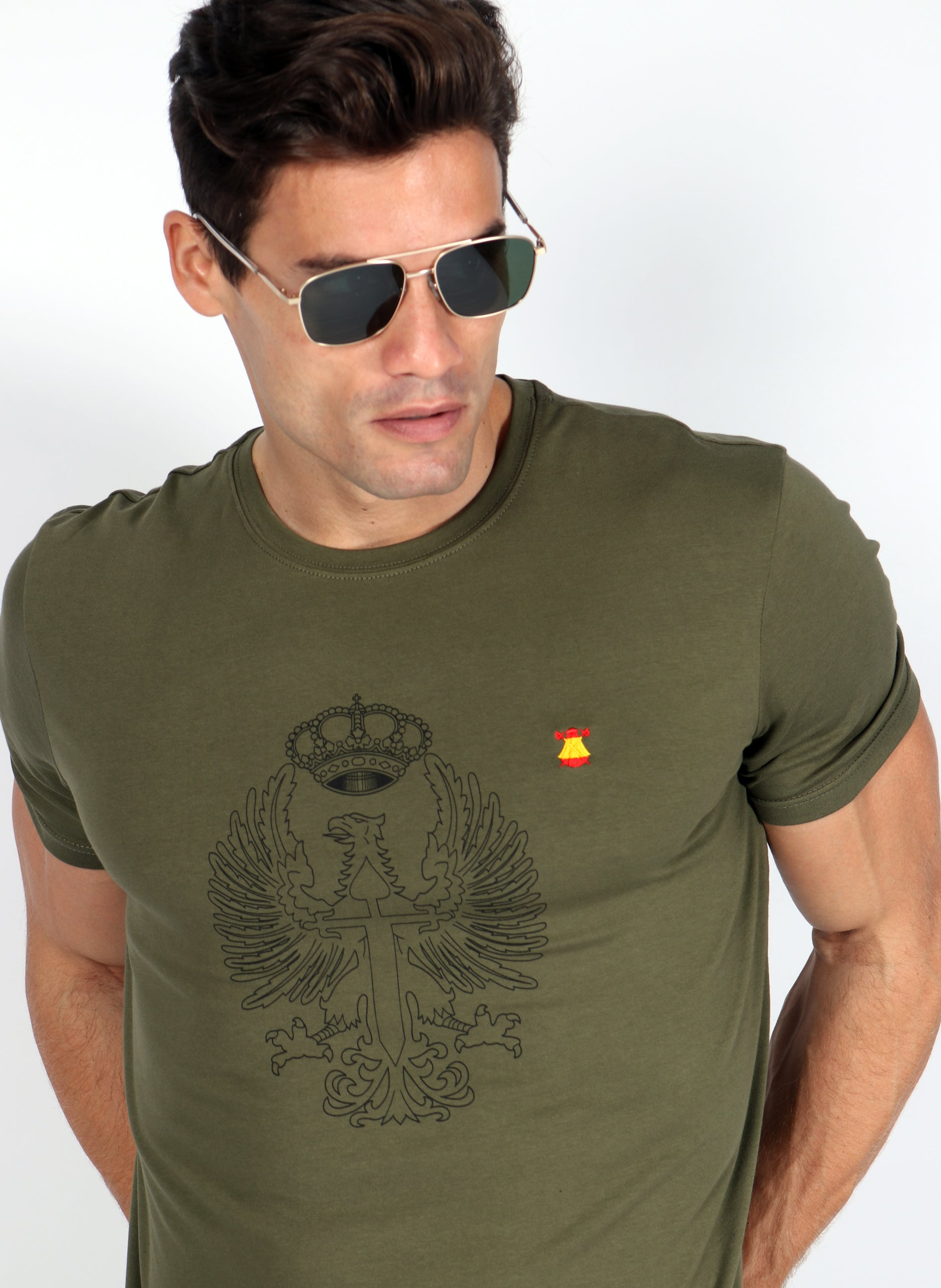 Kaki T-shirt Tribute to the Spanish Army