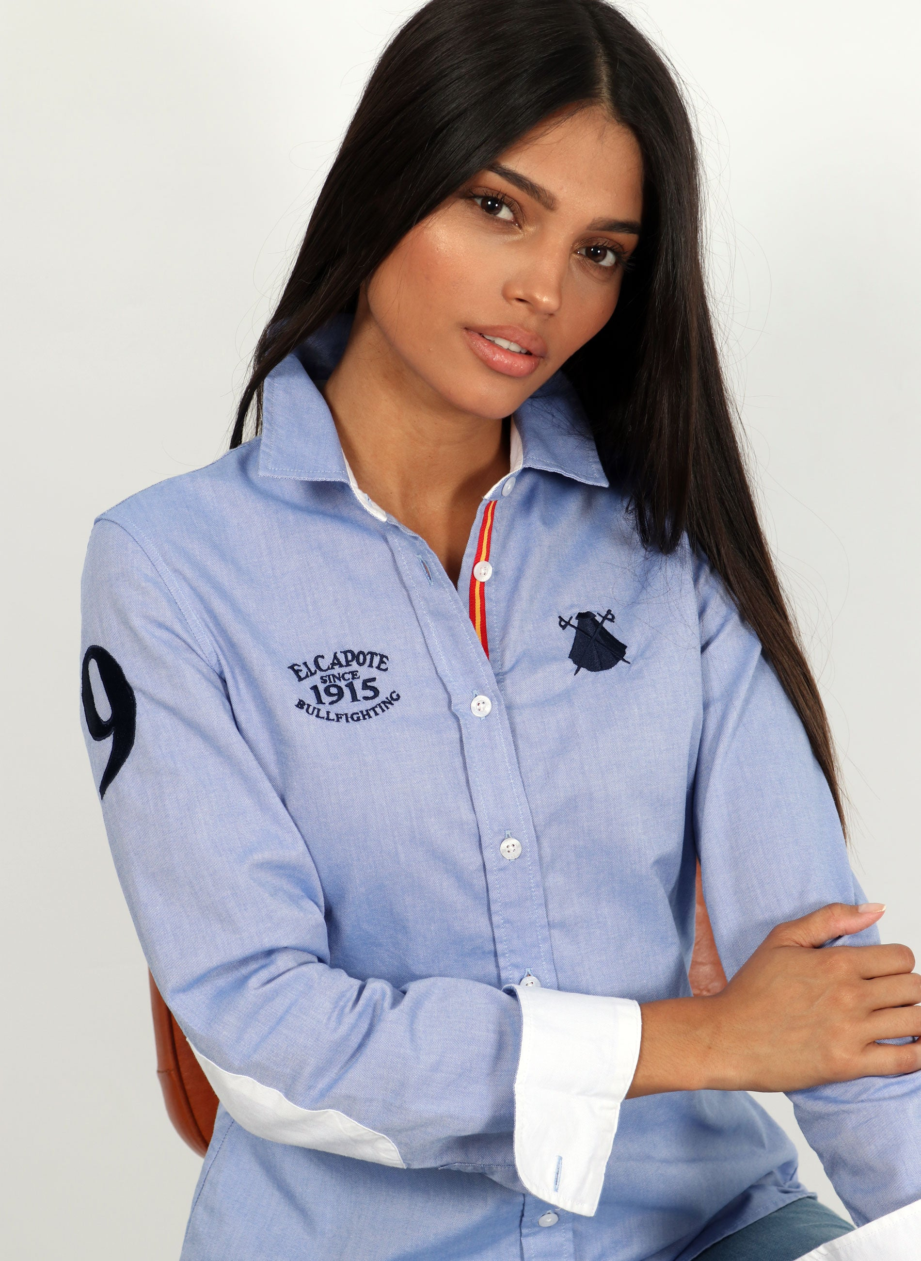 Frauen Regata Spain Blue Oxford Shirt