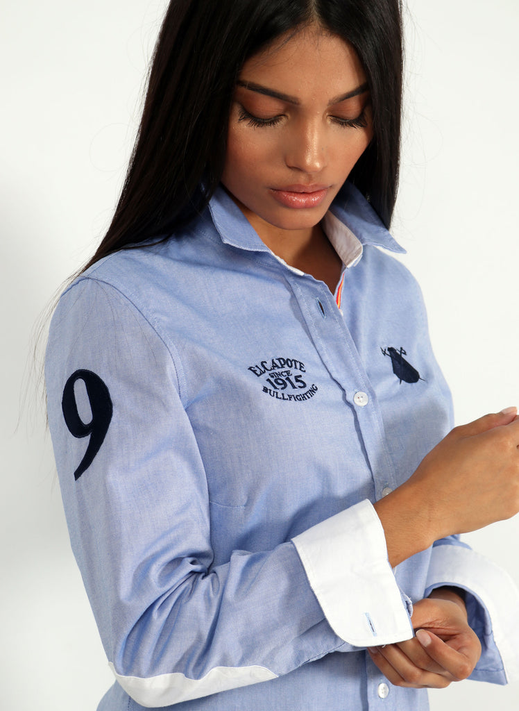 Women's Regata Spain Blue Oxford Shirt