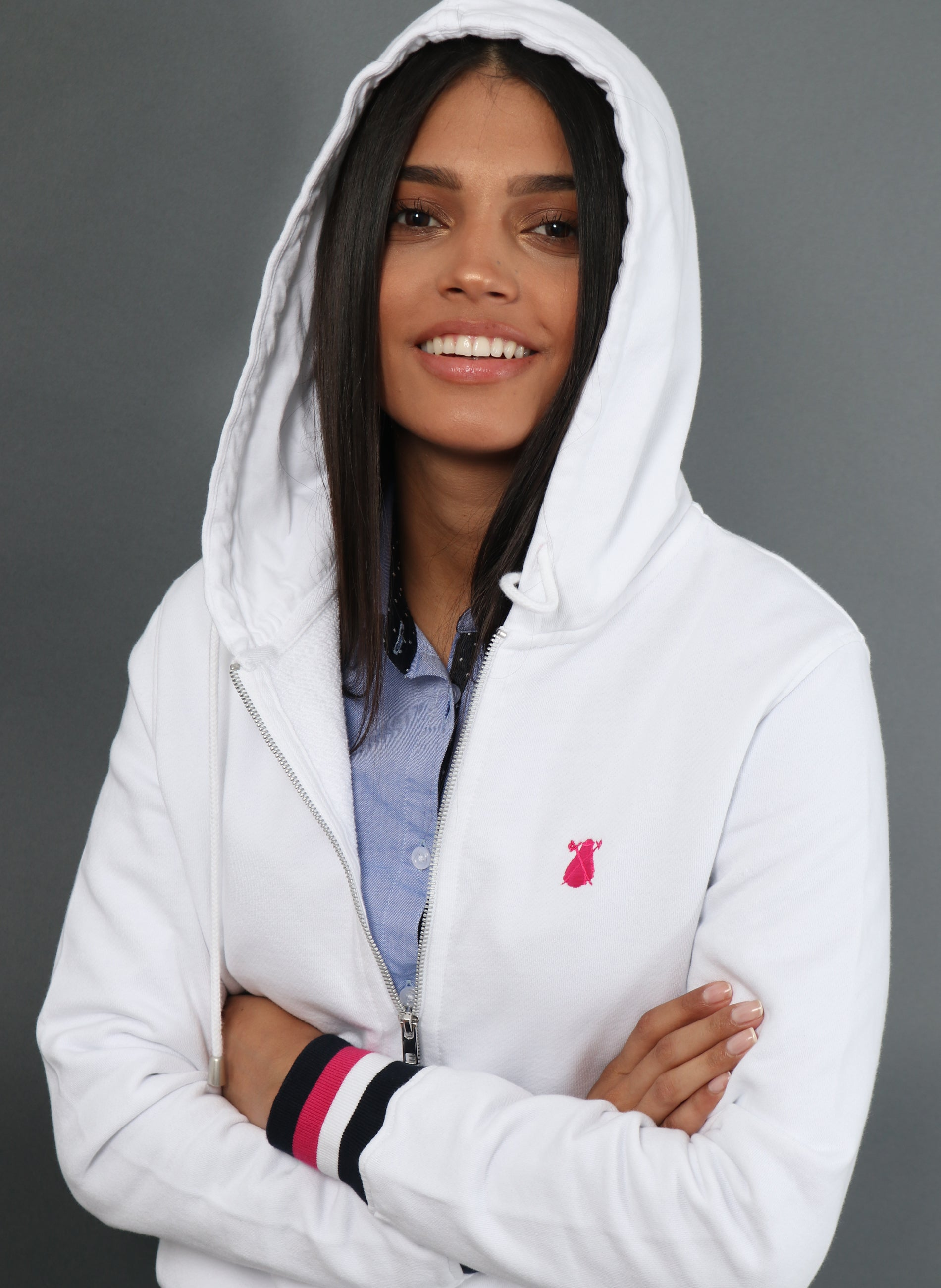 White Hoodie and Zip