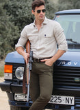 Camel Two Pockets Men's Shirt