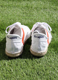 Leather Sneaker and Esparto White Sole Spain Man