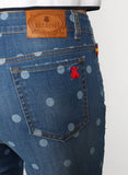 Women's Polka Dot Denim Pants