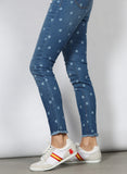 Polka Dot Denim Pants