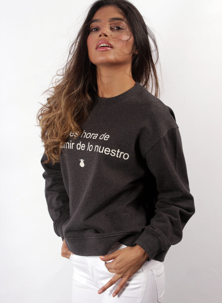 GRAY MARENGO WOMAN SWEATSHIRT
