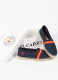 Espadrilles Man Navy Blue Spain Flag