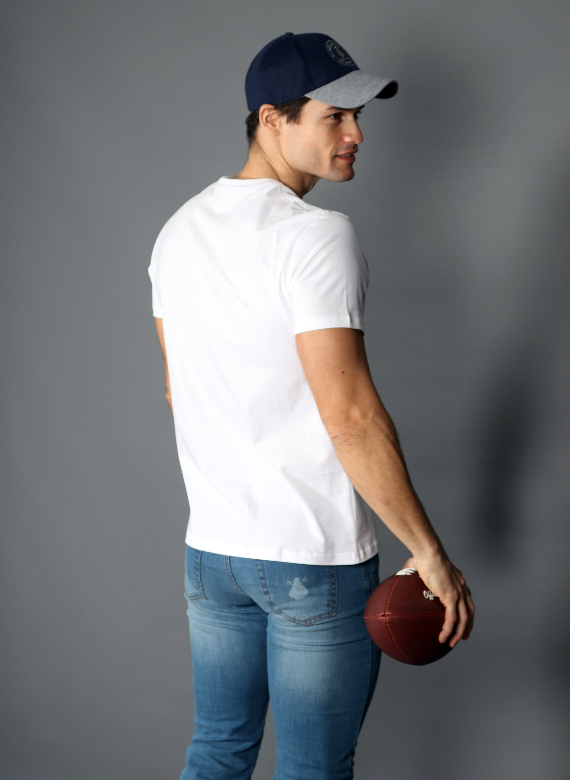 Men's White V Neck T-shirt