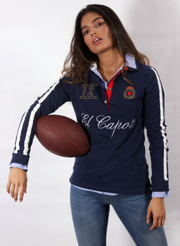 POLO RUGBY NAVY BLUE WOMAN